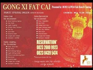 Roso Lawas Tawarkan Paket Gong Xi Fat Cai Mulai Rp 70 Ribu/pack